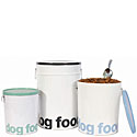 Helvetica Dog  Food Storage Buckets